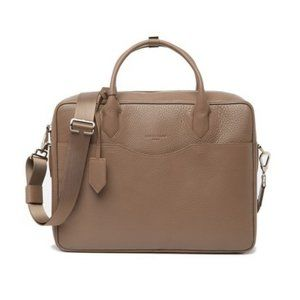 New LONGCHAMP Top Handle Leather Briefcase Bag